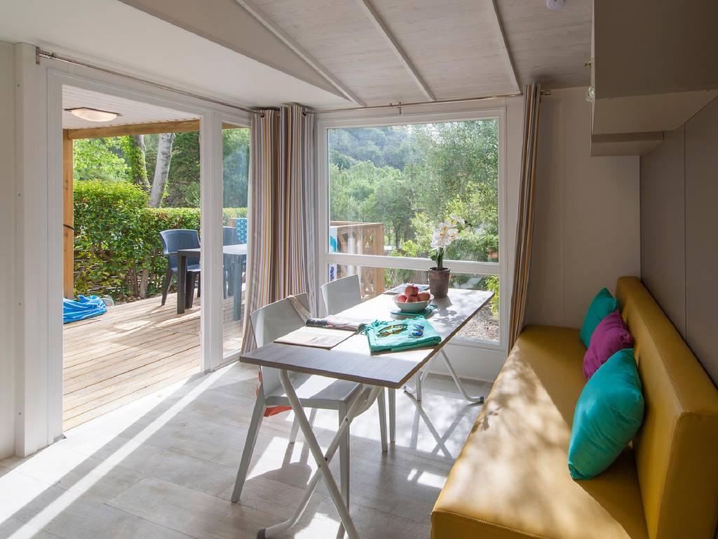 Lumineux mobil-home camping Pays Basque bord de mer