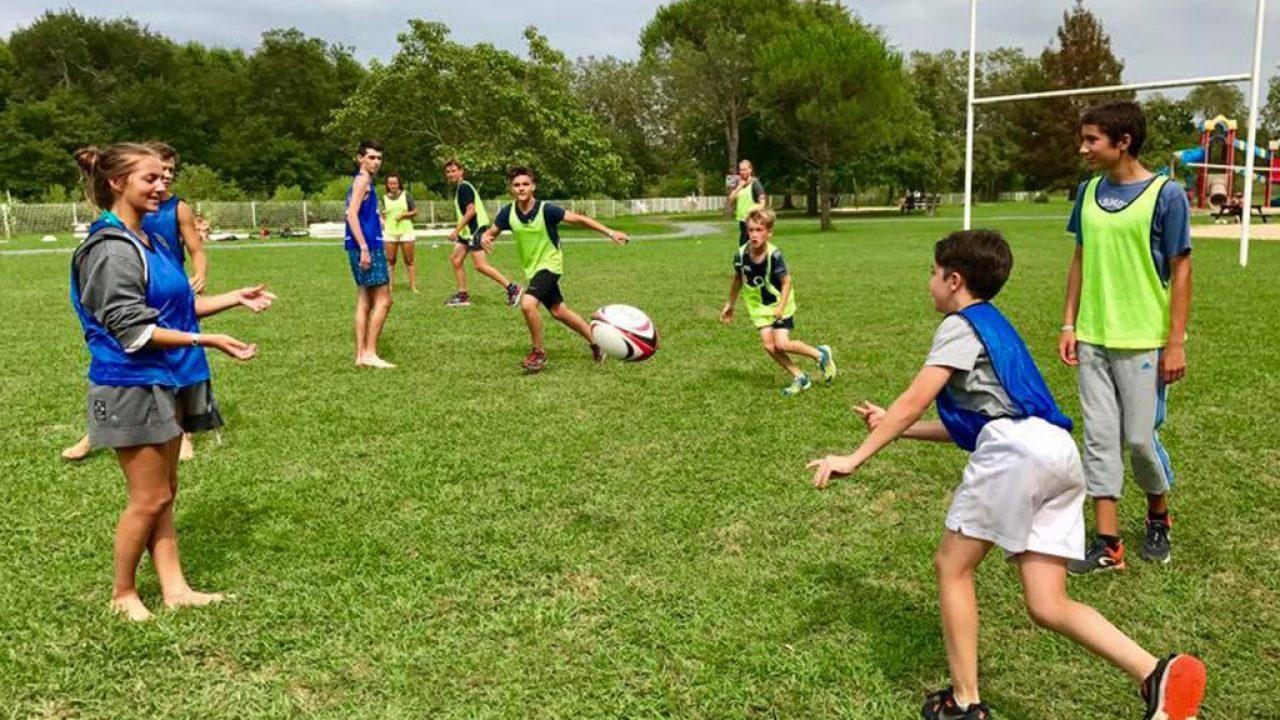 Club ado avec activite rugby séjour Landes Camping Le Ruisseau