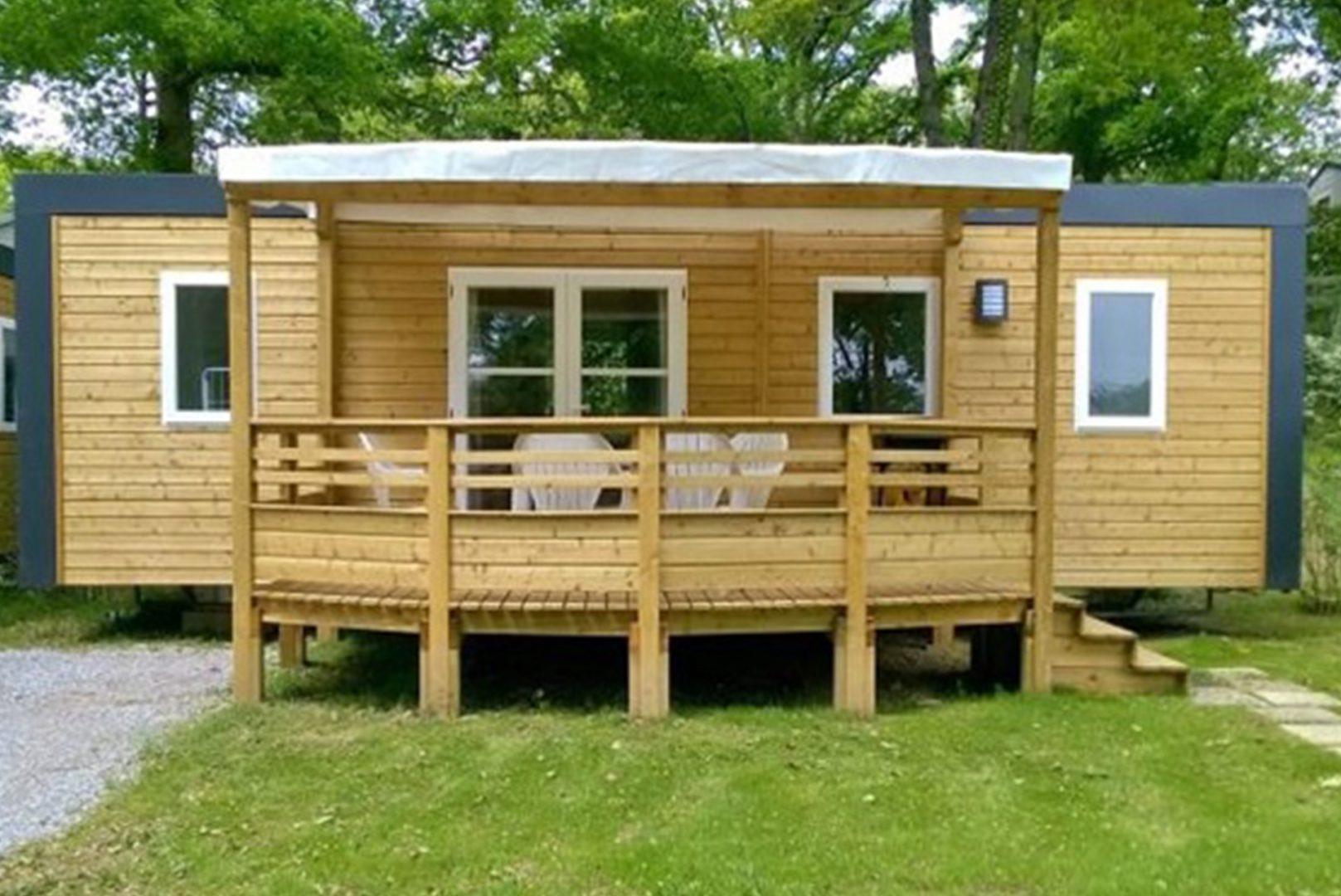 Mobil-home en bois camping Bidart