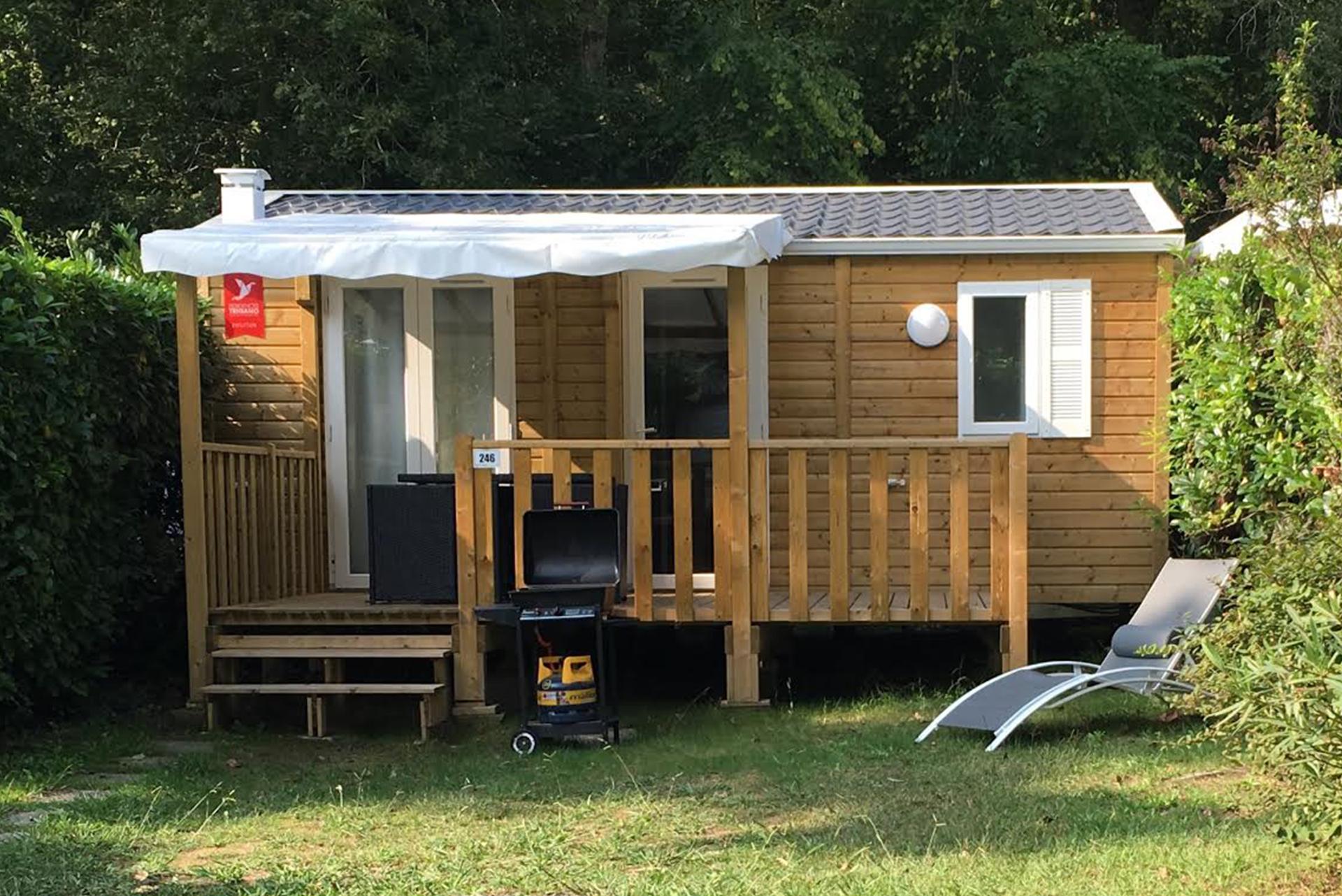 Mobil-home avec barbecue camping Bidart