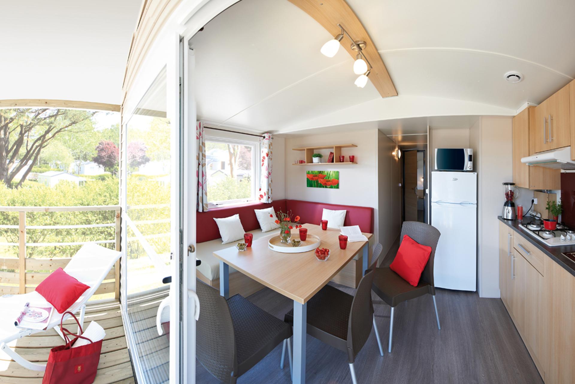 Mobil-home avec terrasse camping Bidart