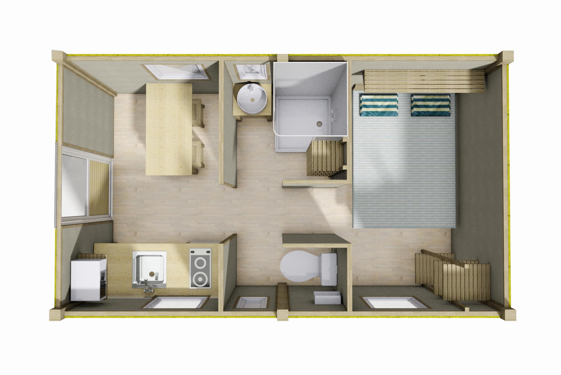Maquette logement camping Bidart