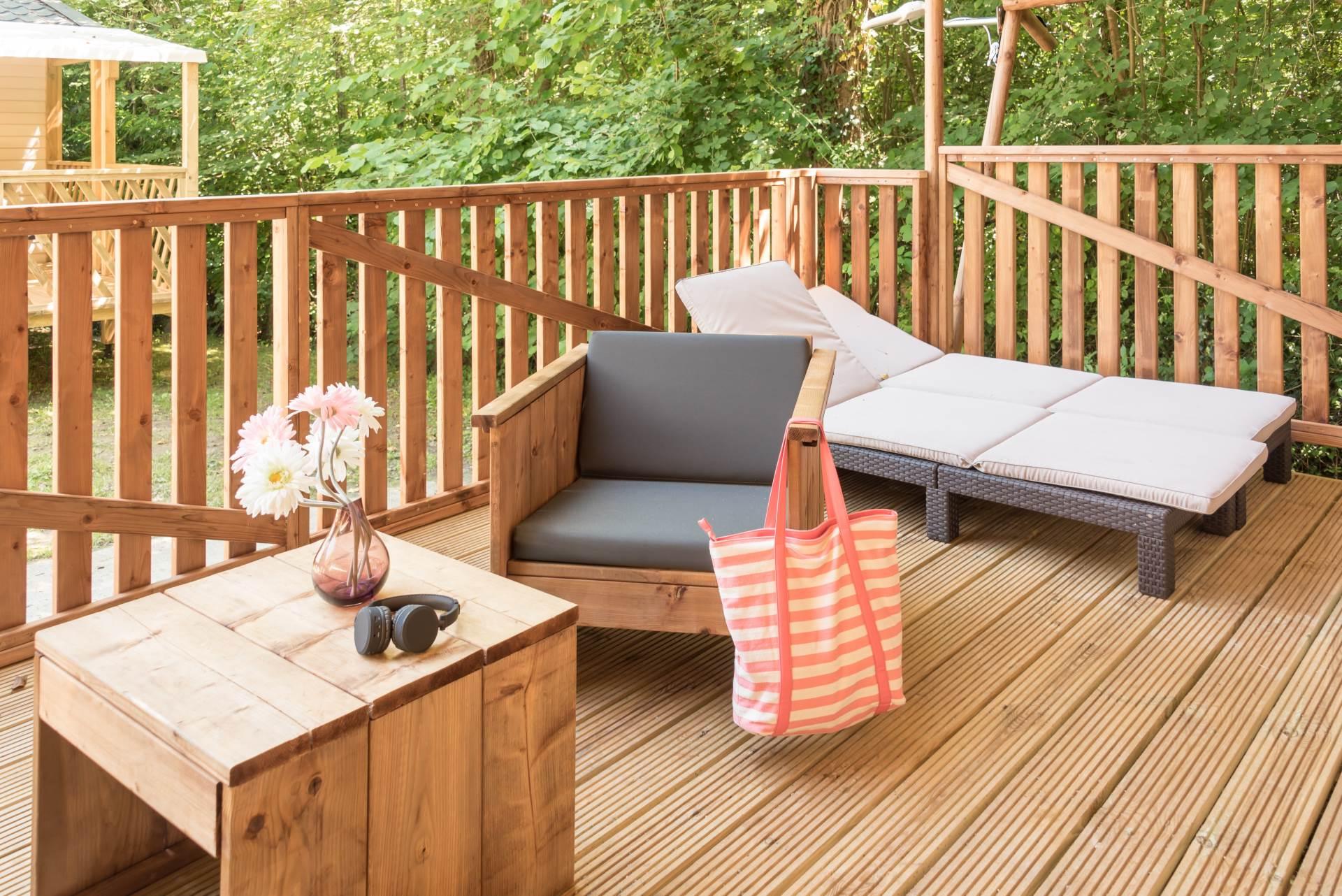 Terrasse équipé camping Bidart