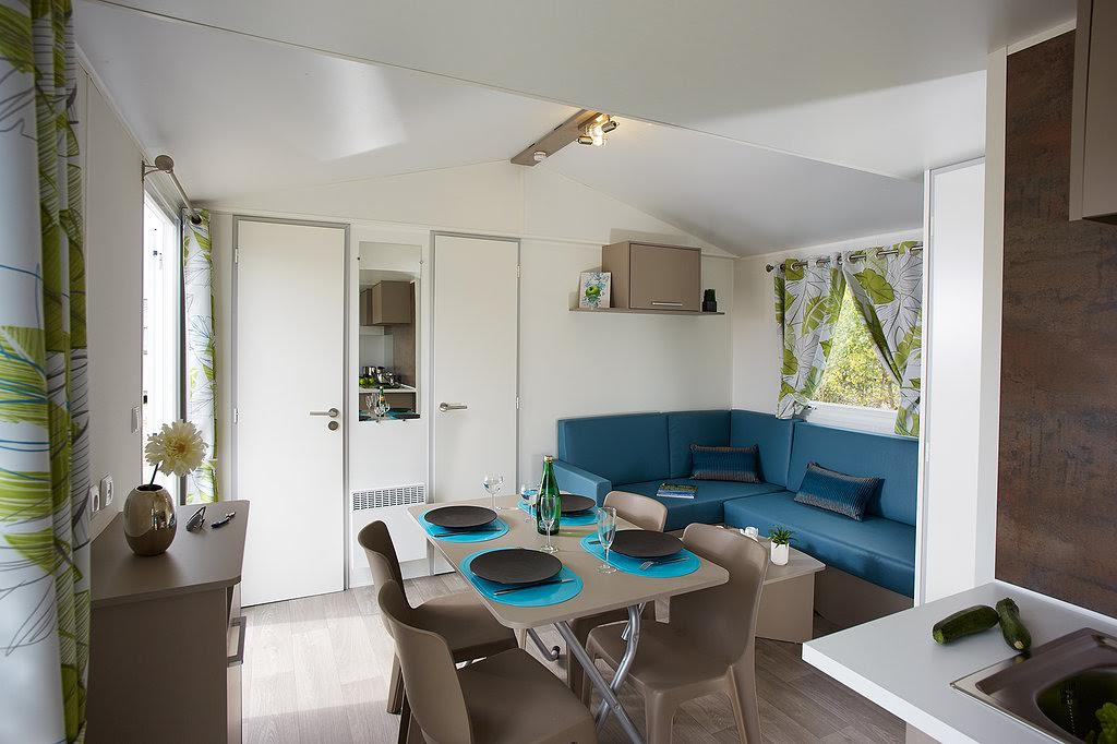 Confortable mobil-home camping Pays Basque bord de mer